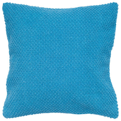 "Rizzy Home Solid Nubby Textured Square Throw Pillow - 20"" x 20"""