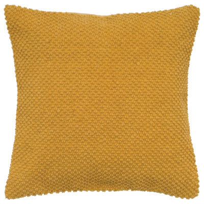 """Rizzy Home Solid Nubby Textured Square Throw Pillow - 20"""" x 20"""""""