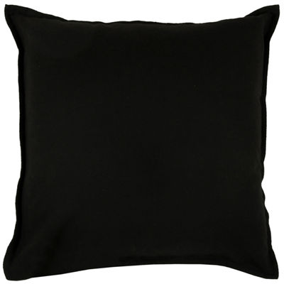 "Rizzy Home Solid Self Flanged Square Throw Pillow- 20"" x 20"
