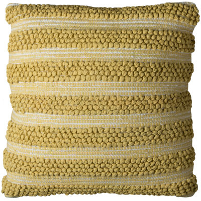 "Rizzy Home Textured Stripes Square Throw Pillow -20"" x 20"""