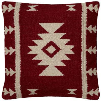 "Rizzy Home Southwestern Motif Square Throw Pillow- 18"" x 18"""