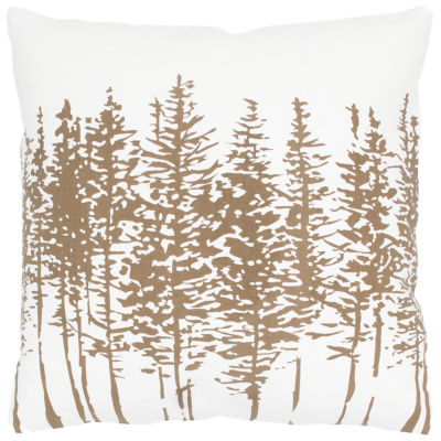 """Rizzy Home Trees In A Line Square Throw Pillow - 18"""" x 18"""""""