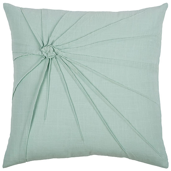 "Rizzy Home Twisted Tacked Knot Square Throw Pillow- 18"" x 18"""