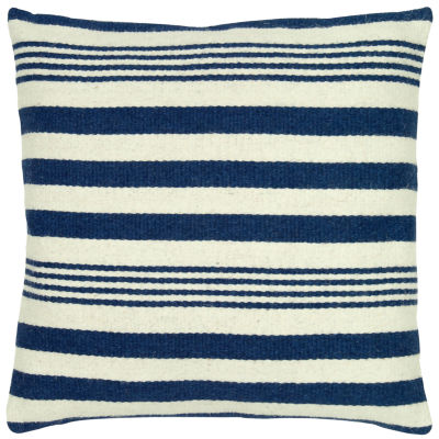 "Rizzy Home Vertical Stripe Square Throw Pillow - 24"" x 24"""