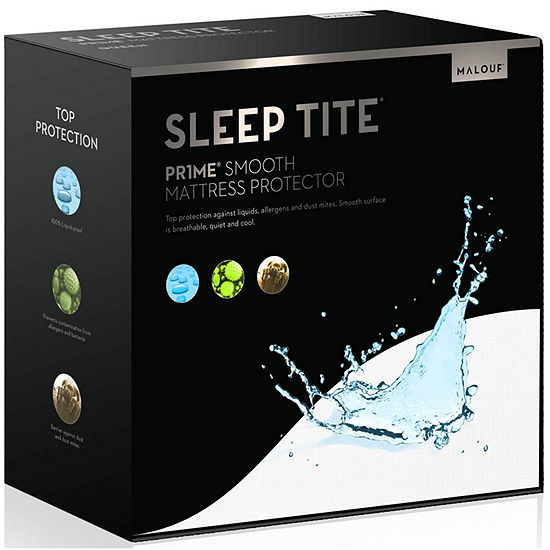 MALOUF Sleep TITE PR1ME Smooth 100% Waterproof Hypoallergenic Mattress Protector