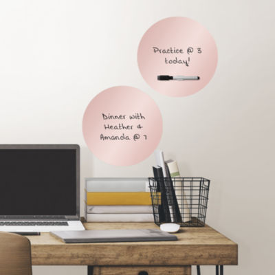 Brewster Wall Rose Gold Dry Erase Dots Set Of 2 Message Board