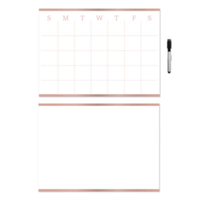 Brewster Wall Vogue Rose Gold Calendar And Message Set Message Board