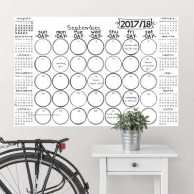 Brewster Wall Sketch Academic 2017-18 Calendar Message Board