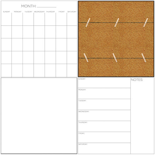 Brewster Wall Message Center Organization Kit Message Board