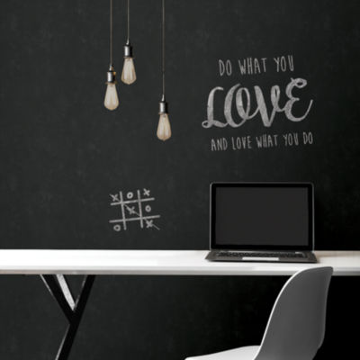 Brewster Wall Vintage Chalkboard Peel & Stick Wallpape Wall Decal