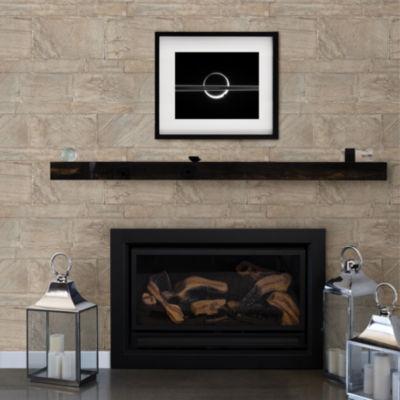 Brewster Wall Beige Sandstone Wall Peel & Stick Wallpa Wall Decal