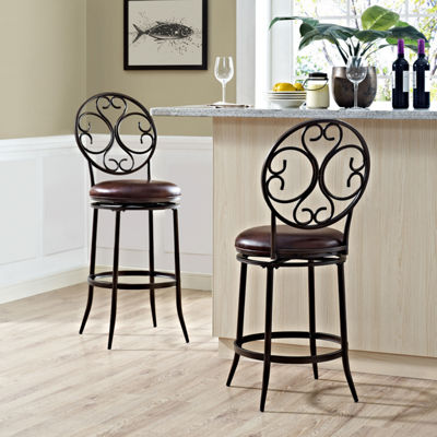 Arbor Upholstered Swivel Counter Stool
