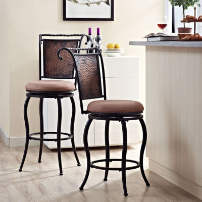 Wingate Upholstered Swivel Counter Stool