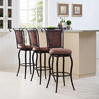 Wingate Upholstered Swivel Barstool