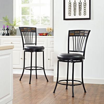 Templeton Upholstered Swivel Counter Stool