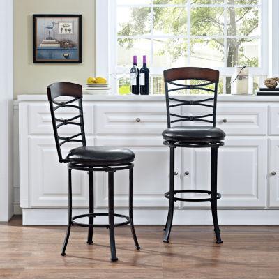 Highland Upholstered Swivel Counter Stool