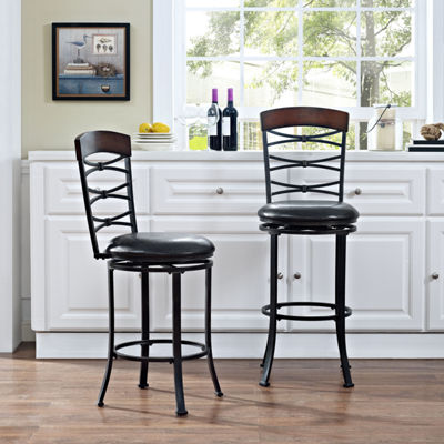 Highland Upholstered Swivel Barstool