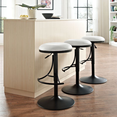 Jasper Upholstered Backless Swivel Counter Stool