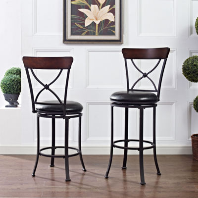 Pruitt Upholstered Swivel Counter Stool