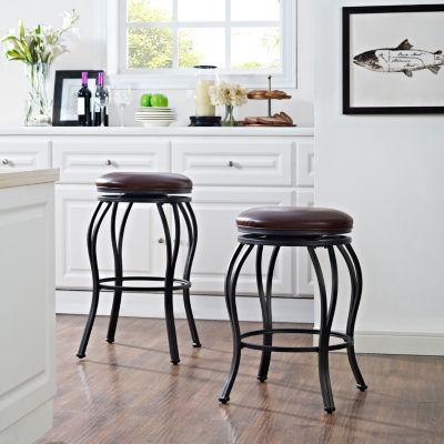Kemper Upholstered Swivel Counter Stool