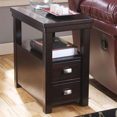 Signature Design by Ashley Hatsuko 2-Drawer Storage End Table