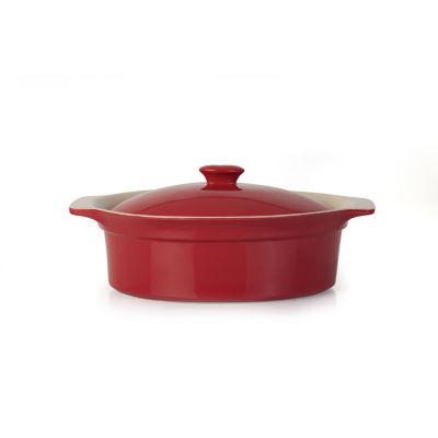 "Geminis Oval Covered Baking Dish 3.25qt 14.25"" x 10"" x 6"""