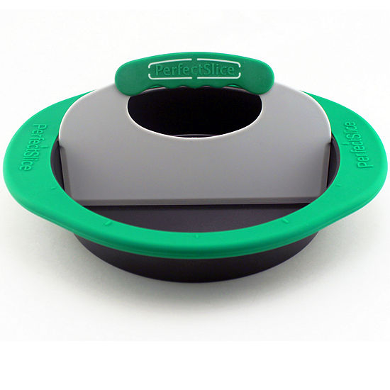 Perfect Slice Cake Pan With Tool & Silicone Sleeve Round
