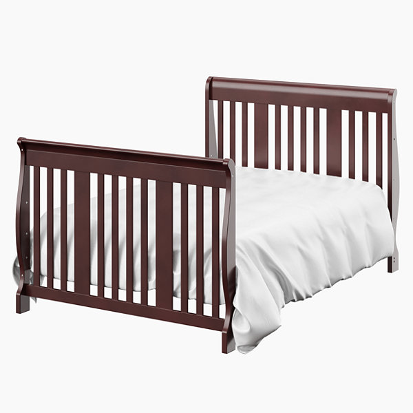 Storkcraft Portofino 4-in-1 Crib and Changer - Cherry