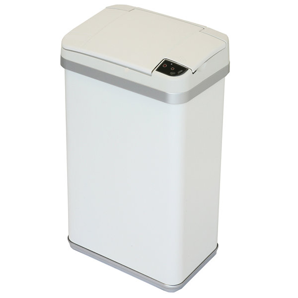 halo™ Multifunction Sensor Trash Can, Matte Finish Pearl White, 4 Gallon, 8.25-Inch Opening