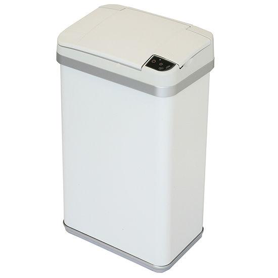 halo™ Multifunction Sensor Trash Can, Matte Finish Pearl White, 4 Gallon, 8.25-Inch Opening