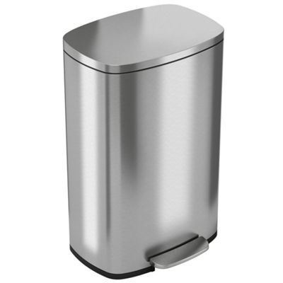 halo™ Premium Stainless Steel Step Can, 50 Liter / 13.2 Gallon