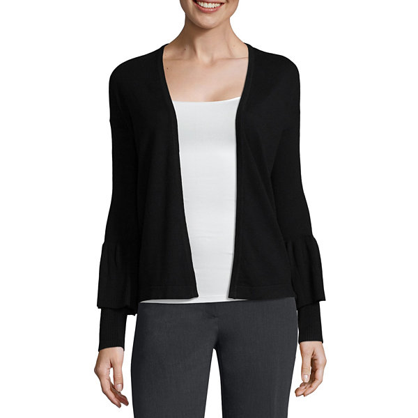 Worthington Long Sleeve Open Front Cardigan