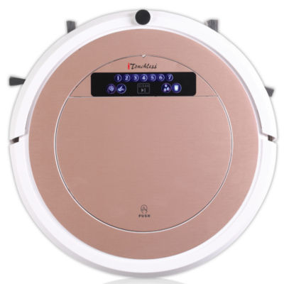 iTouchless UV-C Sterilizer Robot Vacuum Cleaner with HEPA Filter and Wet Mop, Rose Gold