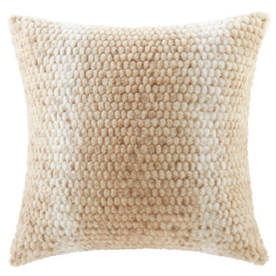 Madison Park Anora Luxury Faux Fur Square Throw Pillow