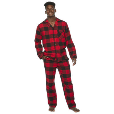 North Pole Trading Co. Plaid Mens Long Sleeve Pant Pajama Set 2-pc.