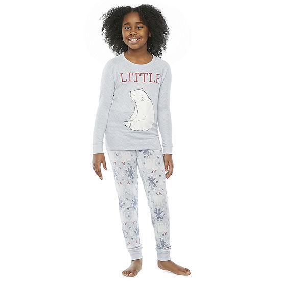 North Pole Trading Co. Polar Bear Little & Big Unisex Christmas Pajama Set 2-pc.