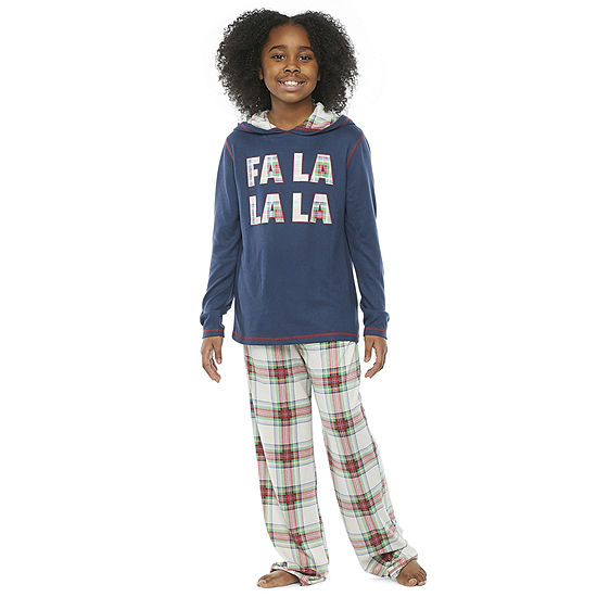 North Pole Trading Co. Fa La La Little & Big Unisex 2-pc. Christmas Pajama Set