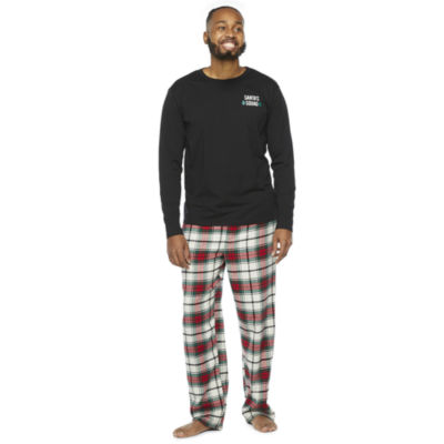 North Pole Trading Co. Tartan Plaid Mens Long Sleeve Pant Pajama Set 2-pc.