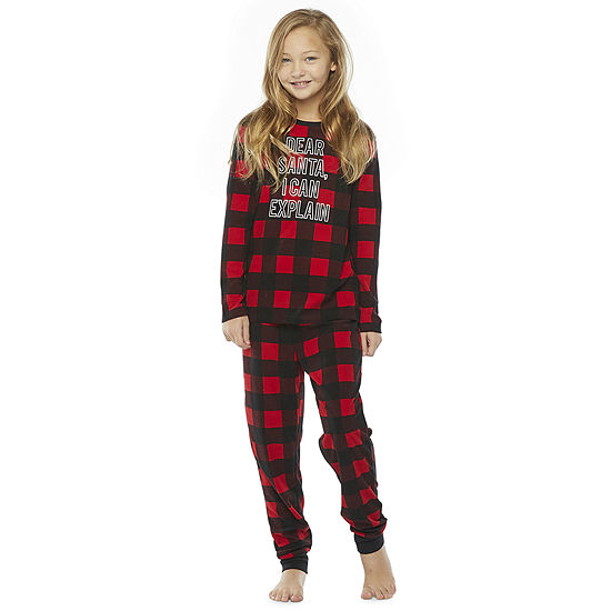 North Pole Trading Co. Buffalo Plaid Little & Big Unisex - Husky 2-pc. Christmas Pajama Set