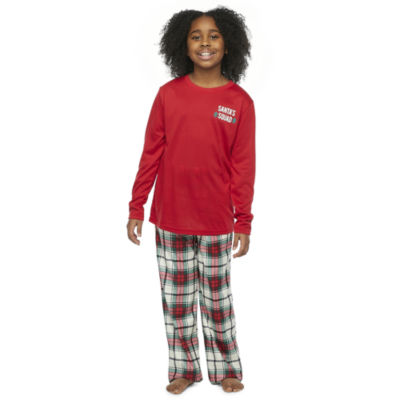 North Pole Trading Co. Tartan Plaid Little & Big Unisex 2-pc. Christmas Pajama Set