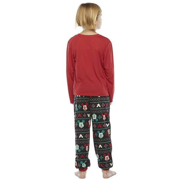 Disney Collection Little & Big Boys 2-pc. Mickey Mouse Christmas Pajama Set