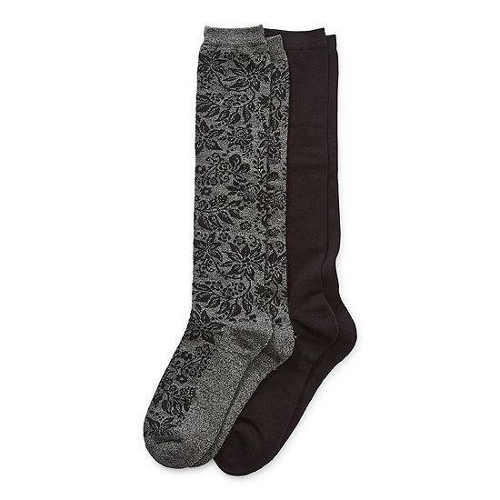 Legale 2 Pair Womens Knee High Socks