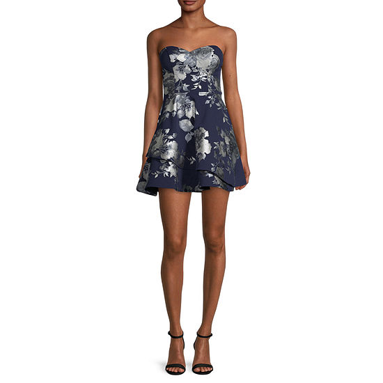 B. Smart-Juniors Sleeveless Floral Fit & Flare Dress