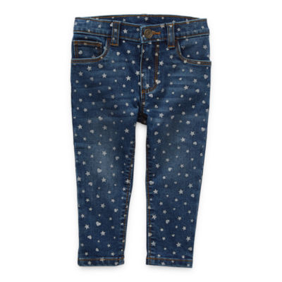 Okie Dokie Baby Girls Mid Rise Straight Pull-On Pants
