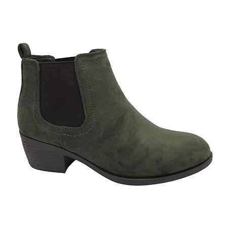 Pop Womens Emmy Block Heel Booties, 8 1/2 Medium, Green