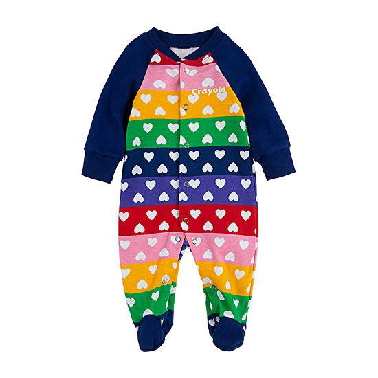 Crayola Baby Girls Knit Long Sleeve One Piece Pajama