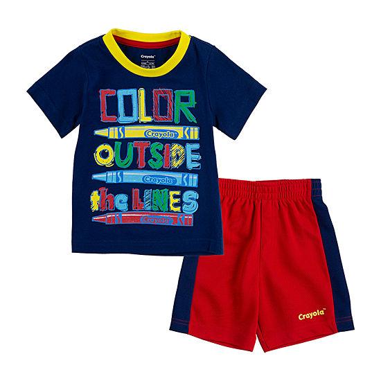 Crayola Baby Boys 2-pc. Short Set