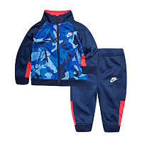 Nike Baby Boys 2-pc. Camouflage Track Suit, 6 Months , Blue