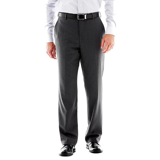 Stafford® Travel Slim-Fit Flat Front Suit Pants