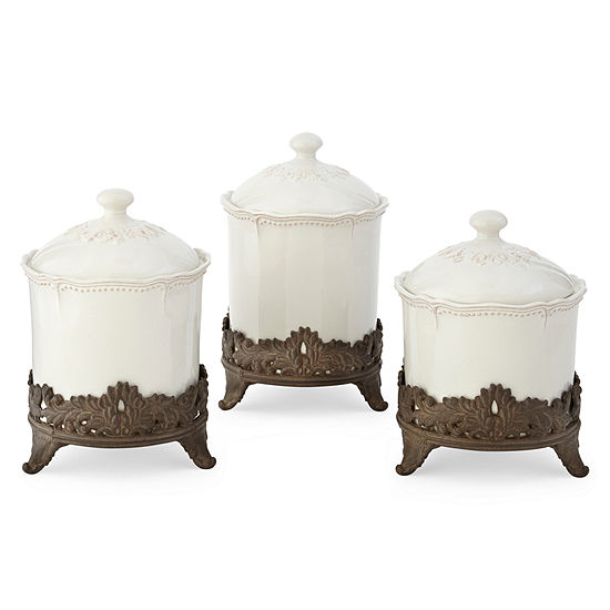 JCPenney Home Amberly 3 Pc Canister Set JCPenney